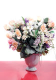 Beautiful pink roses and mixed flowers Royalty Free Stock Images