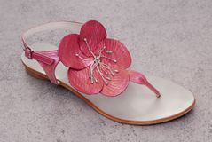 Beautiful pink sandal Royalty Free Stock Photos