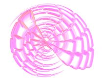 Beautiful pink shell on white. 3D - Beautiful nacre sea shell on white Stock Images