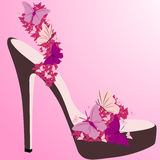 Beautiful pink shoe Royalty Free Stock Image