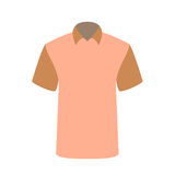 Beautiful pink T-shirt Isolated on White. Vector Illustration. Stock Image