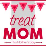 Mother`s Day Poster / Sign / Banner Concept. Beautiful pink themed Mother`s Day design concept which can be used as a banner, shop sign, poster or flyer Royalty Free Stock Images