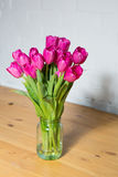 Beautiful pink tulips in a vase Royalty Free Stock Image