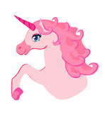 beautiful pink Unicorn. Royalty Free Stock Photography