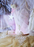 beautiful pink wardrobe closet outfit style fashion dance ballet fairy Stock Images