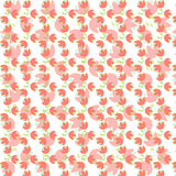 Beautiful pink white red floral flower leaf wallpaper Stock Photography