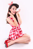 Beautiful pinup woman Royalty Free Stock Photos