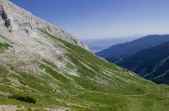 Hiking track - Vihren Peak, Pirin Mountains, Bulgaria Royalty Free Stock Photos