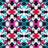 Beautiful pixels abstract geometric Seamless pattern vector illustration Royalty Free Stock Images