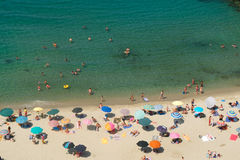 The beautiful pizzo calabro beach  in Calabria Royalty Free Stock Image