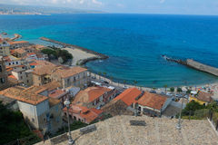The beautiful pizzo Calabro town in Calabria Royalty Free Stock Photography