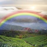 Beautiful place with nice rainbow Royalty Free Stock Photos
