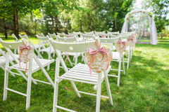 Beautiful place for outside wedding ceremony Royalty Free Stock Image