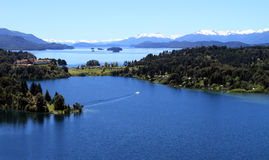Perfect Life. A beautiful place of resort in Patagonia Royalty Free Stock Image