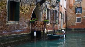 A beautiful place in Venice. A beautiful and romantic place in Venice Italy royalty free stock images