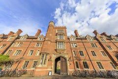 Beautiful places around the famous Cambridge University Royalty Free Stock Photo