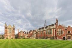 Beautiful places around the famous Cambridge University Stock Images