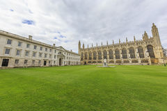 Beautiful places around the famous King's College at Cambridge U Stock Image