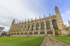 Beautiful places around the famous King's College at Cambridge U Stock Photo