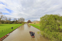 Beautiful places around the famous King's College at Cambridge U Royalty Free Stock Photography