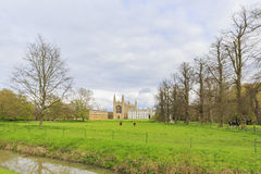 Beautiful places around the famous King's College at Cambridge University Royalty Free Stock Photography