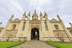 Beautiful places around the famous King's College at Cambridge University Stock Images