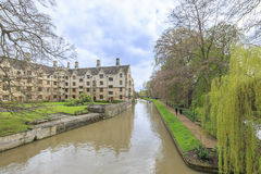 Beautiful places around the famous King's College at Cambridge University. United Kingdom Stock Photos