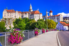 Beautiful places and castles of Germany - pictorial Sigmaringen Royalty Free Stock Images