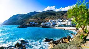 Beautiful places in Crete - pictorial small fishing village Chor Royalty Free Stock Photography
