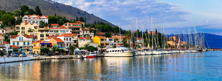 Beautiful places of Greece, Ionian Island Kefalonia. picturesque stock photo