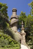 Beautiful places in the Quinta da Regaleira. Summer travel in Portugal. Royalty Free Stock Photography