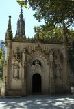 Beautiful places in the Quinta da Regaleira. Summer travel in Portugal. Beautiful architecture Stock Photography