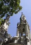 Beautiful places in the Quinta da Regaleira. Summer travel in Portugal. Beautiful architecture Stock Image