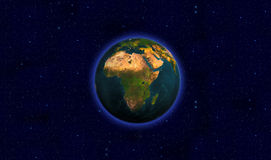 Beautiful Planet Earth. Viewing Africa Stock Images