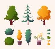 Beautiful plants. Cartoon vector illustration. Urban decoration. Exterior concept stock illustration