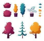 Beautiful plants. Cartoon vector illustration. Urban decoration. Exterior concept royalty free illustration
