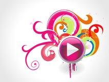 Beautiful play button vector illustration