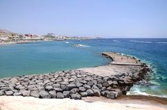 Beautiful Playa在肋前缘阿德赫的de Fanabe在特内里费岛 免版税库存图片