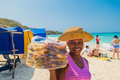 Beautiful Playa Blanca or White beach close to Stock Photography