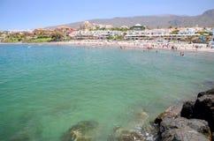Beautiful Playa de Fanabe in Costa Adeje auf Teneriffa Lizenzfreie Stockfotos