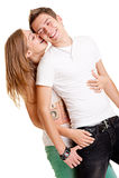 Beautiful playful couple Stock Photography