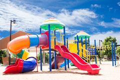 Beautiful Playground. PlayGround Park With Sky Background Royalty Free Stock Photography