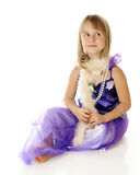 Beautiful Playing Dress Up Royalty Free Stock Photo