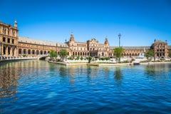 Beautiful Plaza de西班牙,塞维利亚,西班牙 免版税库存照片