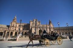 Beautiful Plaza de España de Sevilla fotos de archivo