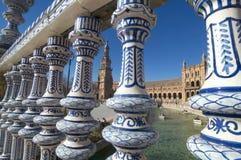Beautiful Plaza DE España van Sevilla stock foto