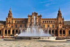 Beautiful Plaza de Espana, Σεβίλη, Ισπανία Στοκ εικόνα με δικαίωμα ελεύθερης χρήσης