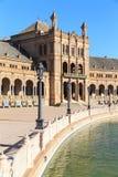 Beautiful Plaza de Espana, Sevilla Fotos de archivo libres de regalías