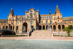 Beautiful Plaza de Espana, Sevilla, Spain.  stock images