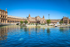 Beautiful Plaza DE Espana, Sevilla, Spanje Royalty-vrije Stock Foto